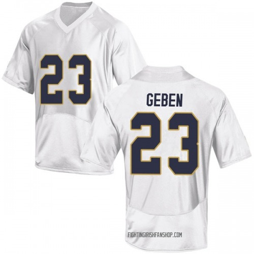 Youth Under Armour Martinas Geben Notre Dame Fighting Irish Game White Football College Jersey