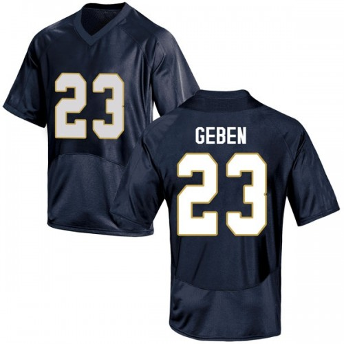 Youth Under Armour Martinas Geben Notre Dame Fighting Irish Replica Navy Blue Football College Jersey