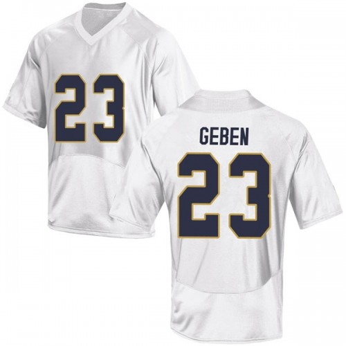 Youth Under Armour Martinas Geben Notre Dame Fighting Irish Replica White Football College Jersey
