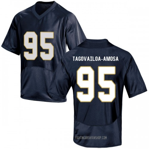 Youth Under Armour Myron Tagovailoa-Amosa Notre Dame Fighting Irish Game Navy Blue Football College Jersey