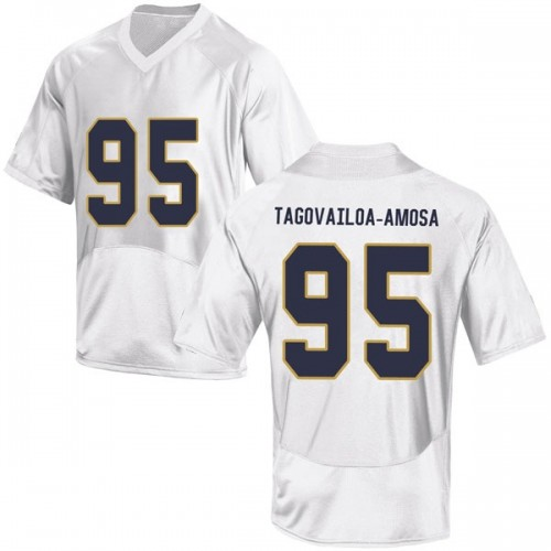 Youth Under Armour Myron Tagovailoa-Amosa Notre Dame Fighting Irish Game White Football College Jersey