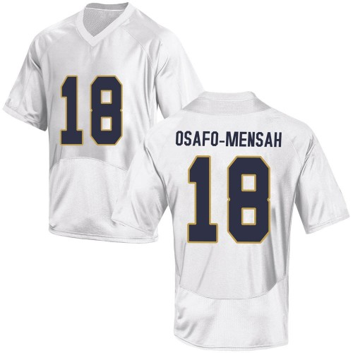 Youth Under Armour Nana Osafo-Mensah Notre Dame Fighting Irish Replica White Football College Jersey
