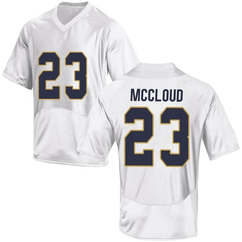Youth Under Armour Nick McCloud Notre Dame Fighting Irish Replica White Custom Football College Jersey