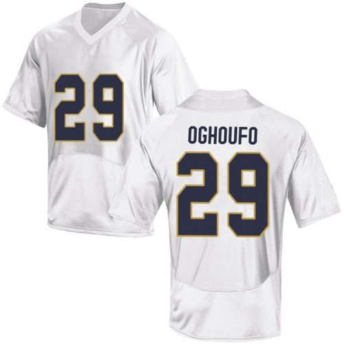 Youth Under Armour Ovie Oghoufo Notre Dame Fighting Irish Game White Football College Jersey