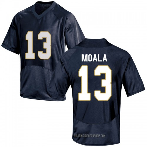 Youth Under Armour Paul Moala Notre Dame Fighting Irish Game Navy Blue Football College Jersey