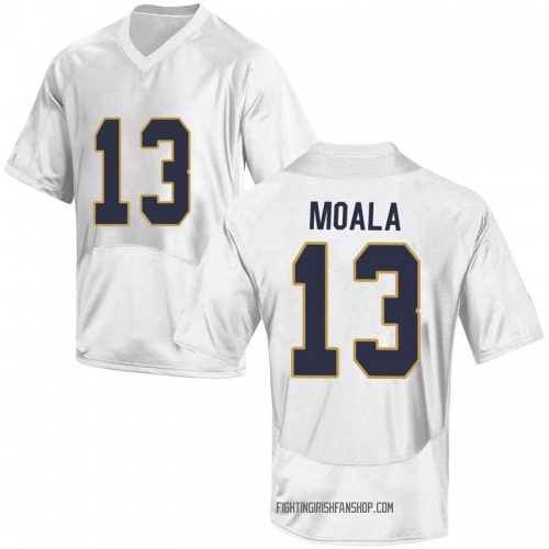 Youth Under Armour Paul Moala Notre Dame Fighting Irish Game White Football College Jersey