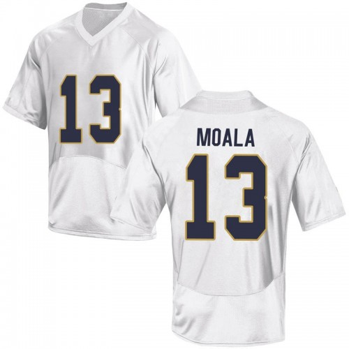 Youth Under Armour Paul Moala Notre Dame Fighting Irish Replica White Football College Jersey