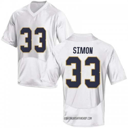 Youth Under Armour Shayne Simon Notre Dame Fighting Irish Game White Football College Jersey