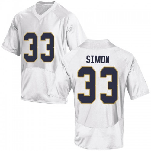 Youth Under Armour Shayne Simon Notre Dame Fighting Irish Replica White Football College Jersey