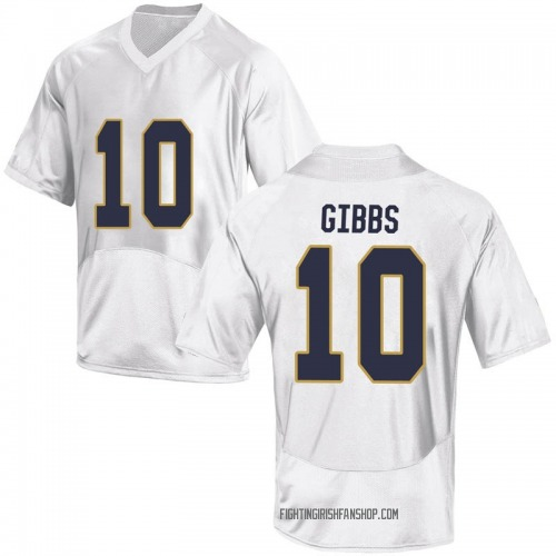 Youth Under Armour T.J. Gibbs Notre Dame Fighting Irish Game White Football College Jersey