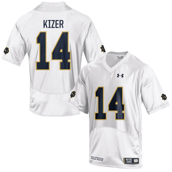 Men's Under Armour DeShone Kizer Notre Dame Fighting Irish Replica White Football Jersey